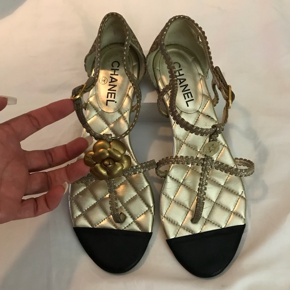 19e0f4638e97 CHANEL Shoes   Camellia Double Strap Sandal 395   Poshmark